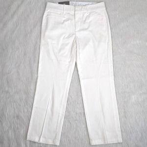JM Collection White Trouser No Gap Waistband 8PS
